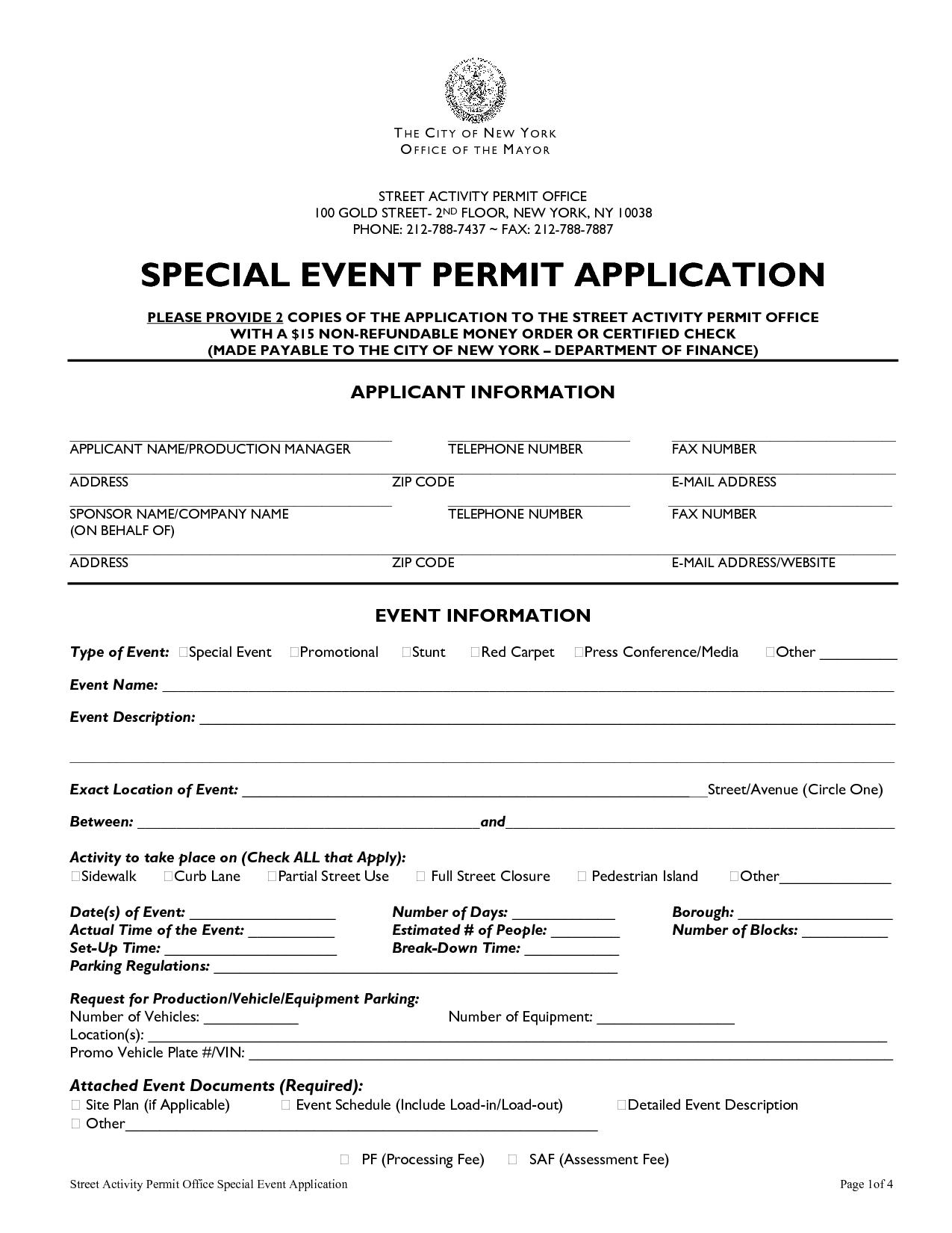 event permit