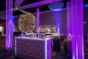 Great Gastby Bar with Crystal Columns